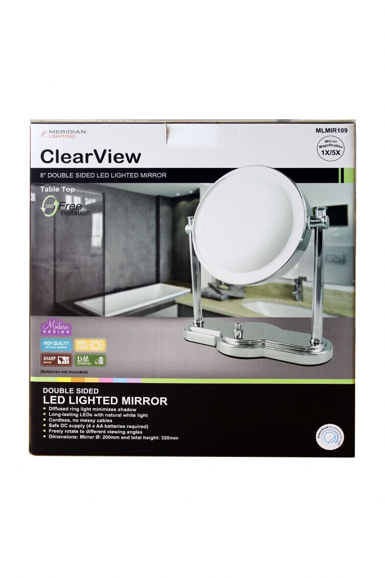 clearview mlmir109 led mirror. Black Bedroom Furniture Sets. Home Design Ideas