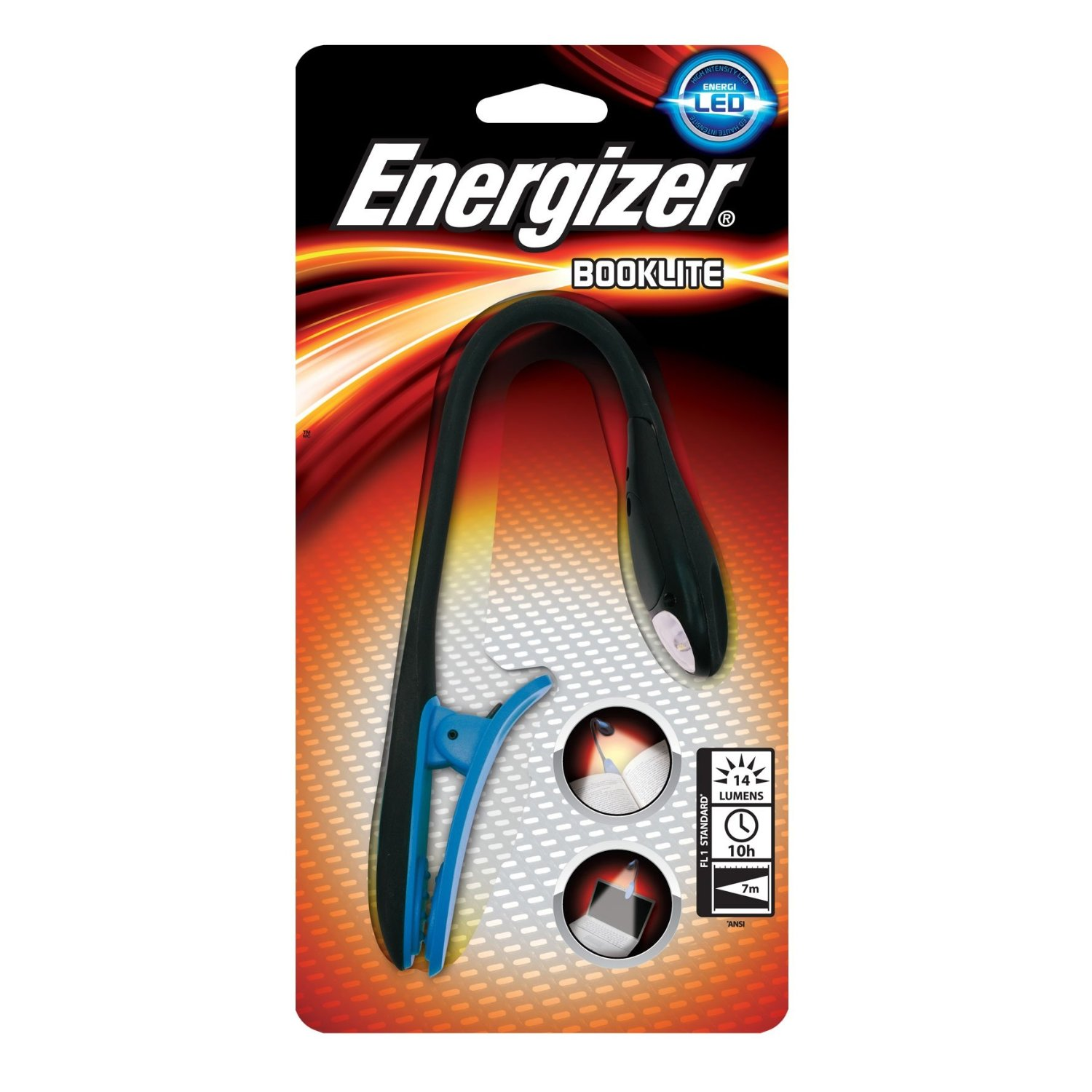 energizer booklite led clip on torch light for kindle etc