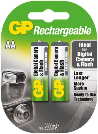 gp aa rechargeable batteries for digital camera & flash
