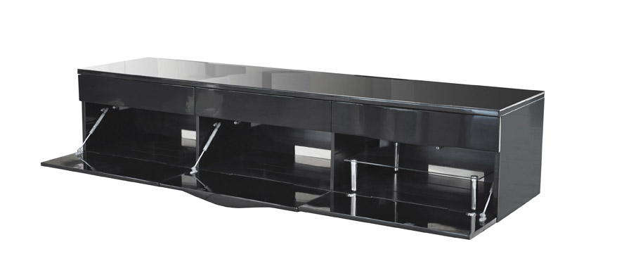 Norstone cikor black tv cabinet 2000mm for up to 80 screen for Norstone cikor