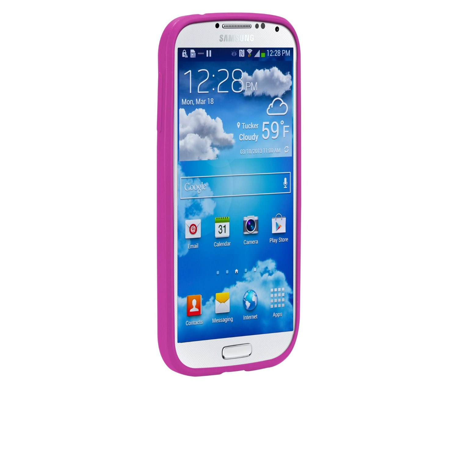 olo cloud case for samsung galaxy s4 pink olo027058. Black Bedroom Furniture Sets. Home Design Ideas