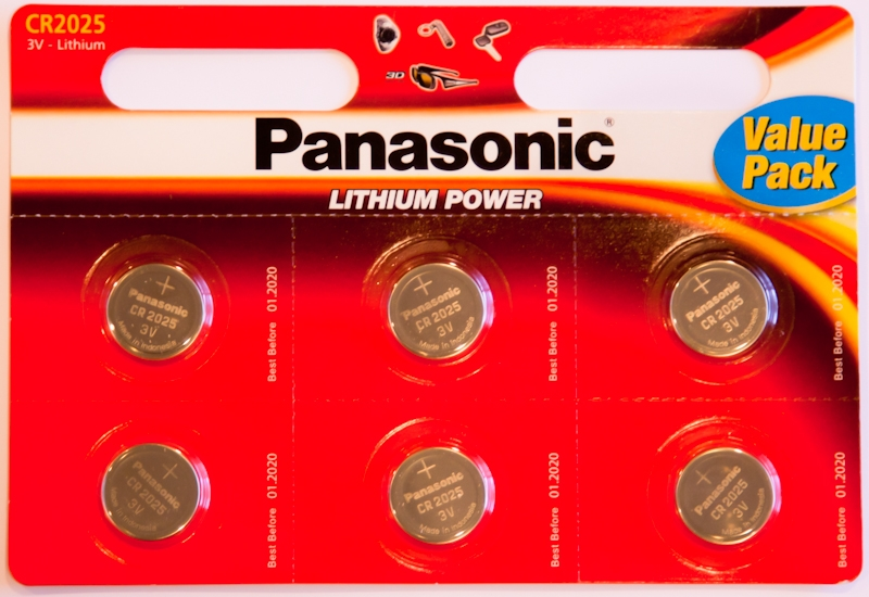 Panasonic Cr2025 3v Lithium Coin Cells Pack Of 6