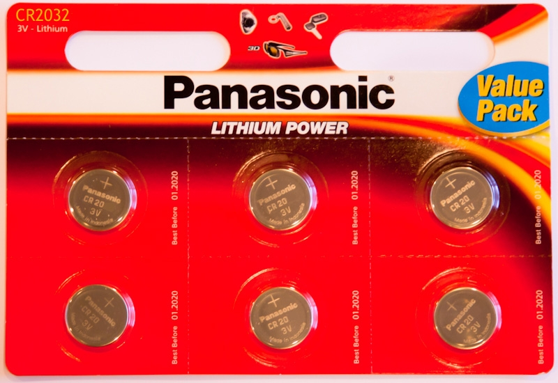 Panasonic Cr2032 3v Lithium Coin Cells Pack Of 6
