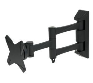 TRUVUE-SMALL-ARTICULATING-WALL-MOUNT-BRACKET-FOR-10-24-TV-TRWV150-BLACK-NEW