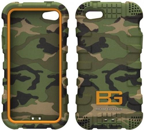 newest c7722 dfa35 Bear Grylls Action Case iPhone 5 5S Woodland Camo