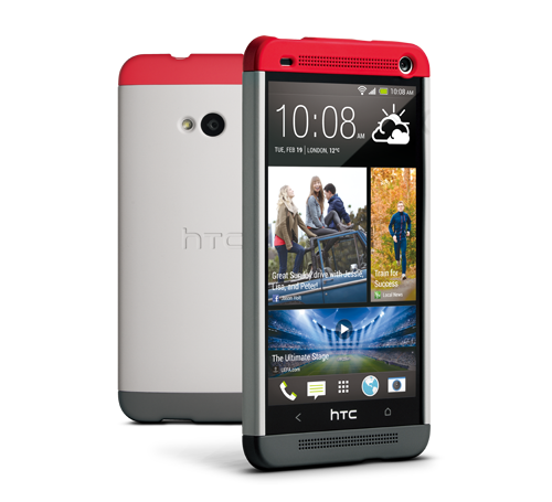 sale retailer 99ac6 cbe42 HTC One Double Dip Hard Shell Case Grey & Red HTCHCC840