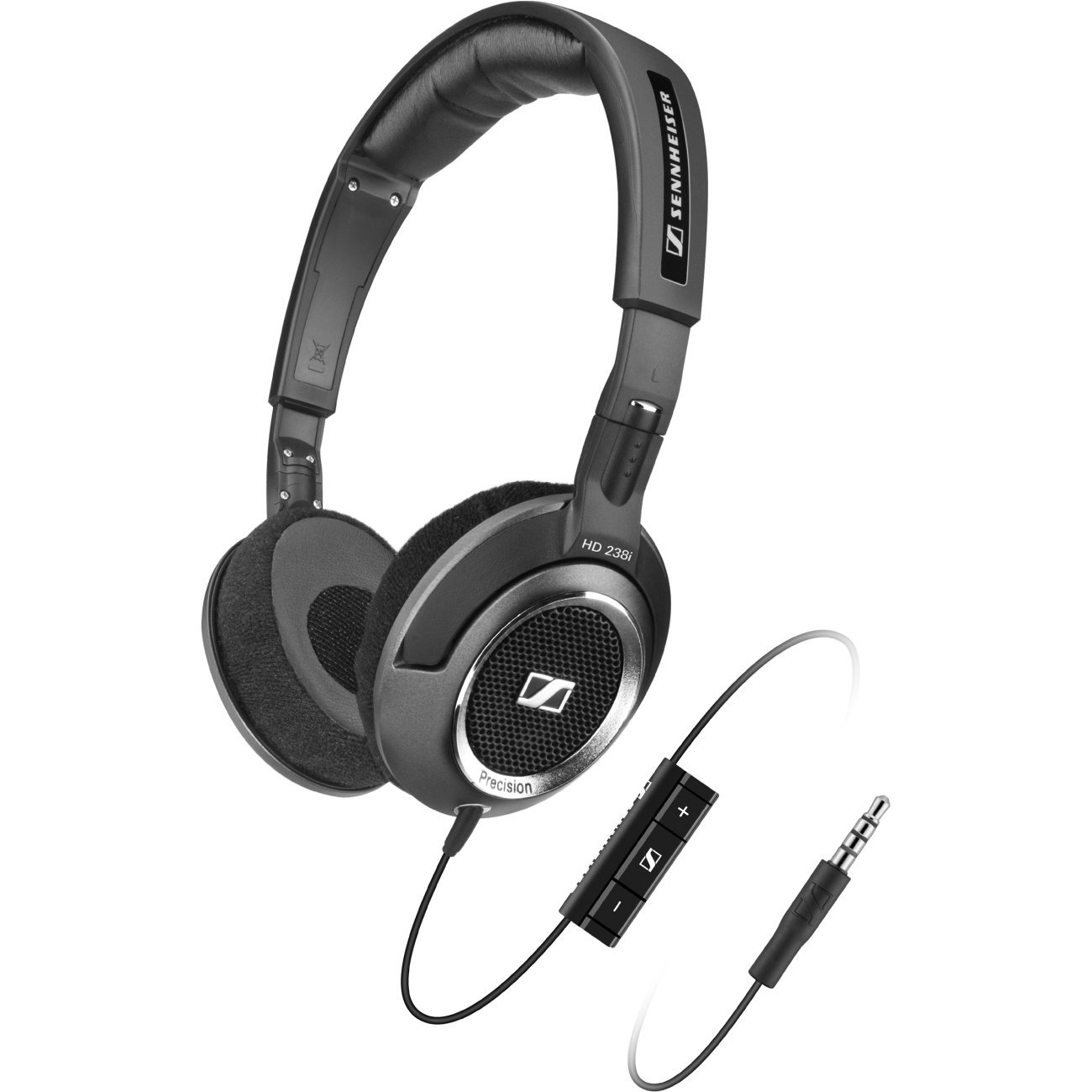 Sennheiser Hd 238i High Resolution Open Headphone With Iphone Ipod Jivo Sports Armband Black Remote