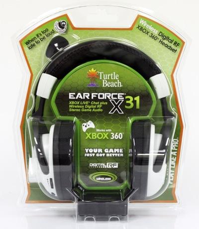 554ebe3422dc Turtle Beach Ear Force X31 Xbox 360 Wireless Gaming Headset